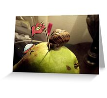 Pear Invaders Greeting Card