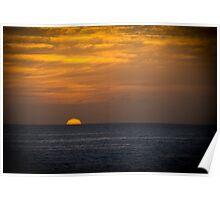 Sunrise at dawn golden sky Poster