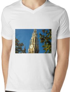 Old Cathedral Between the Trees - Travel Photography Mens V-Neck T-Shirt