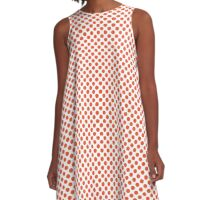 Flame Polka Dots A-Line Dress