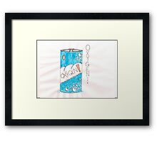 Can Of Oxygen Framed Print