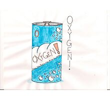 Can Of Oxygen Photographic Print