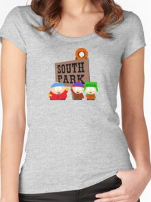 south park south park cartman stan kenny kyle t shirts Women's Fitted Scoop T-Shirt