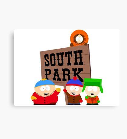 south park south park cartman stan kenny kyle t shirts Canvas Print