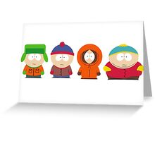 south park illustrations Greeting Card