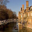Mathematical Bridge on the River Cam Cambridge  by Kawka