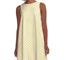 Primrose Yellow Polka Dots A-Line Dress