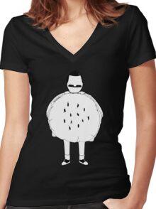 Gene (Bob) Belcher: Hamburger Costume Women's Fitted V-Neck T-Shirt