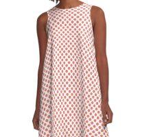 Peach Echo Polka Dots A-Line Dress