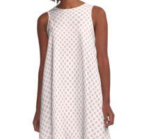 Rose Quartz Polka Dots A-Line Dress