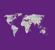 Newspaper World Map by artemisd