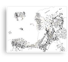RolePlaying Map Canvas Print