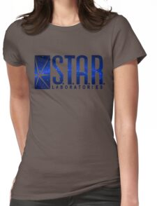 Blue Galaxy S.T.A.R. Labs Womens Fitted T-Shirt