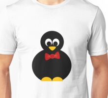 cute little penguin with bow tie Unisex T-Shirt