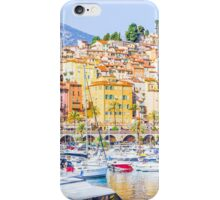 Port in Menton, France iPhone Case/Skin