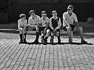 Four schoolboys and a teacher by awefaul