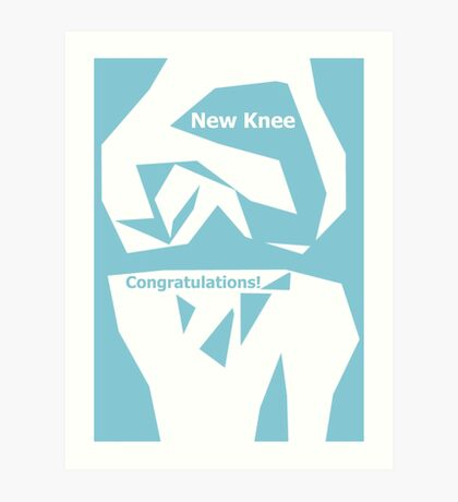 Knee Replacement Operation Congratulations Card by Jenny Meehan Art Print