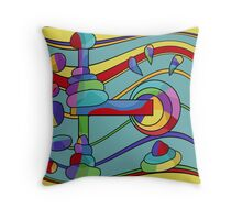 Colorful machine  Throw Pillow