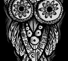 Owl Shaman t-shirt by os-frontis