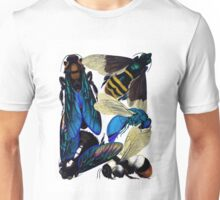 Vintage bees, hornets, wasps nature illustration Unisex T-Shirt