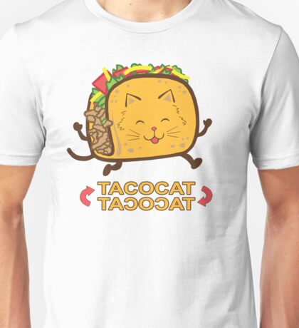 Taco Cat (Cream) Unisex T-Shirt