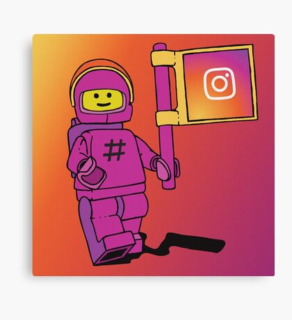 Instagram Benny - Social Media Inspired Lego Canvas Print