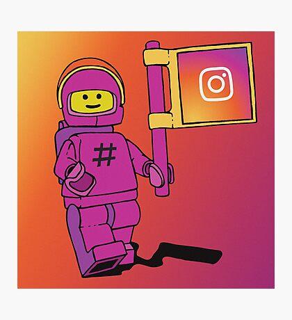 Instagram Benny - Social Media Inspired Lego Photographic Print