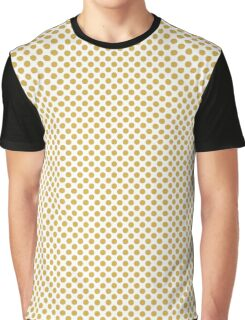 Spicy Mustard Polka Dots Graphic T-Shirt
