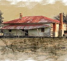 Old country homestead by Kerry  Hill