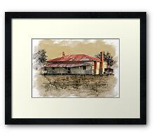 Old country homestead Framed Print