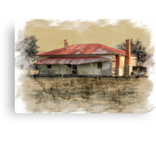 Old country homestead Canvas Print