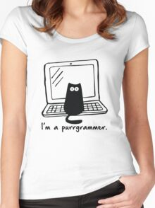 I'm a purrgrammer Women's Fitted Scoop T-Shirt