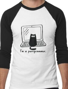 I'm a purrgrammer Men's Baseball ¾ T-Shirt