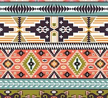 Vector colorful decorative element on native ethnic style by Olena Syerozhym