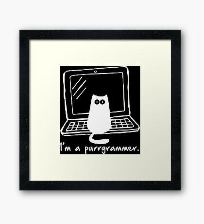 I'm a purrgrammer Framed Print