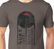 CCCP Sputnik 1 First Satellite - Black Edition Unisex T-Shirt