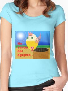 Salido of gujero. Women's Fitted Scoop T-Shirt