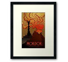 Mordor Travel Framed Print