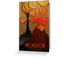 Mordor Travel Greeting Card