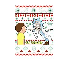 Rick and Morty Get Schwifty Christmas Design Photographic Print
