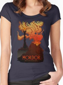 Mordor Travel Women's Fitted Scoop T-Shirt