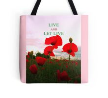 Red poppy flowers Tote Bag