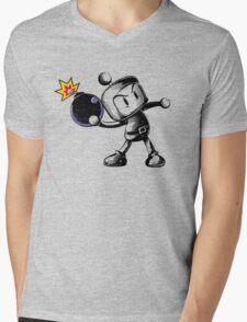 BOMBING Mens V-Neck T-Shirt