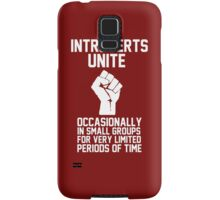 Introverts unite occasionally in small groups for very limited periods of time Samsung Galaxy Case/Skin