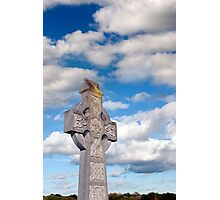 cloudy sky celtic cross Photographic Print