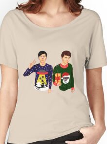 Dan and Phil Christmas Women's Relaxed Fit T-Shirt