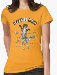 Dollar bills kitten - make it rain money cat Womens Fitted T-Shirt