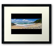 Coolum Beach - Queensland Australia - Panorama Framed Print
