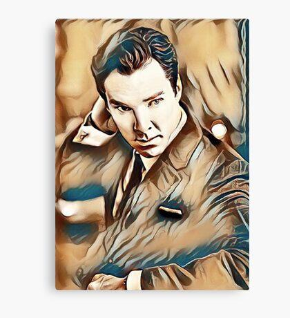 Benedict Cumberbatch Painting Canvas Print