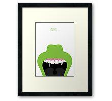 Ghostbusters Minimalist Series - Slimer Framed Print